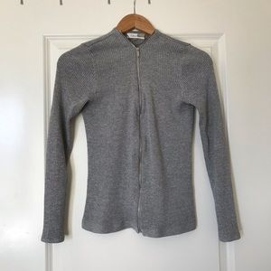 Silver Calvin Klein zip up cardigan